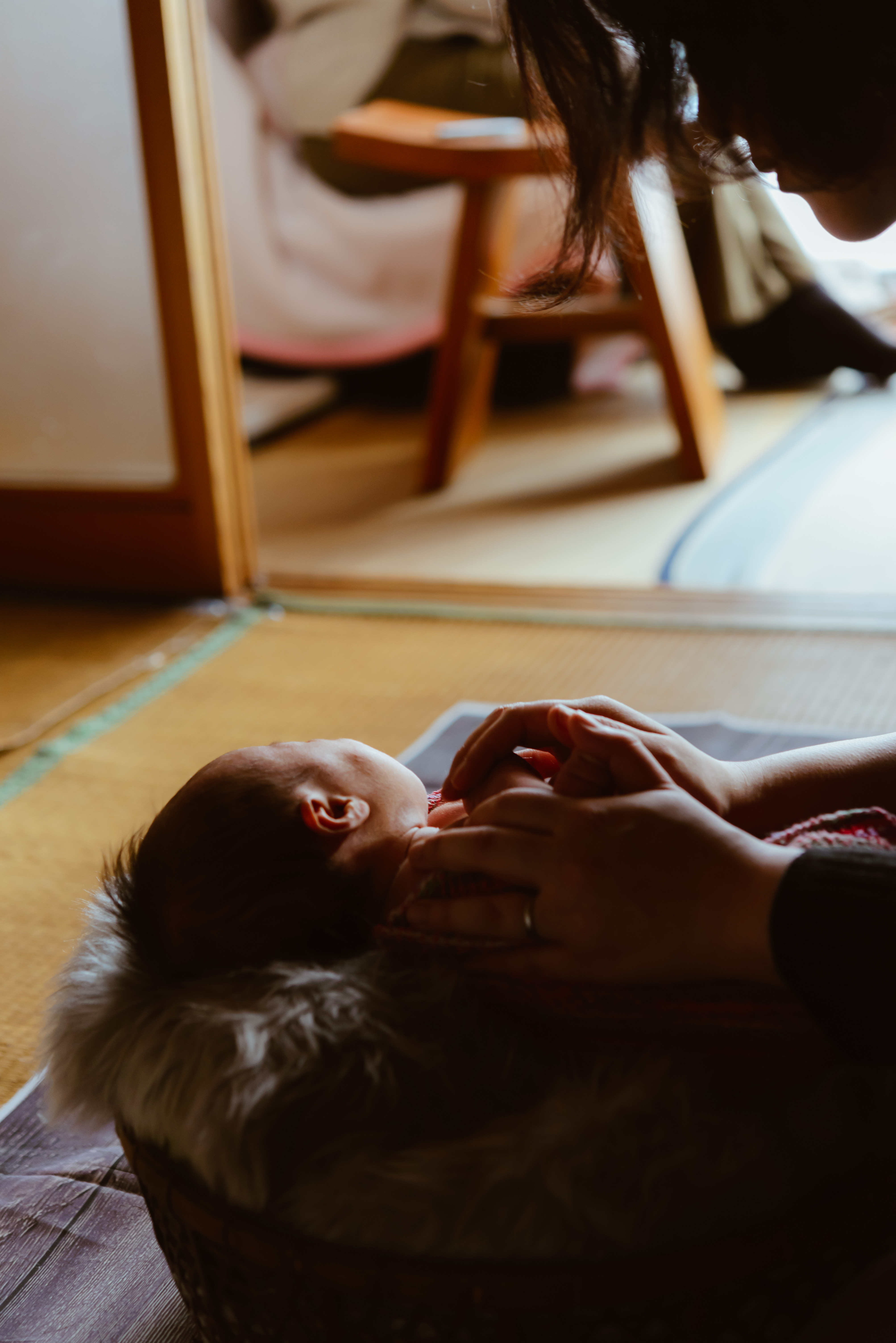 岩手県一関市でニューボーンフォト撮影*生後18日baby